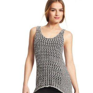 CAbi Tape Yarn Knit Sweater Tank Tunic SMALL tt031